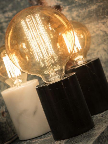 Tischlampe Athen. Marmorsockel, Retro Leuchtmittel